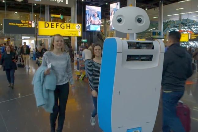 Spencer robot at Schiphol Airport
