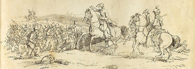 The Battle of Waterloo sketch by J Atkinson