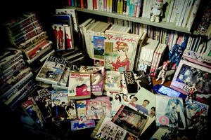 Manga book collection from 70's