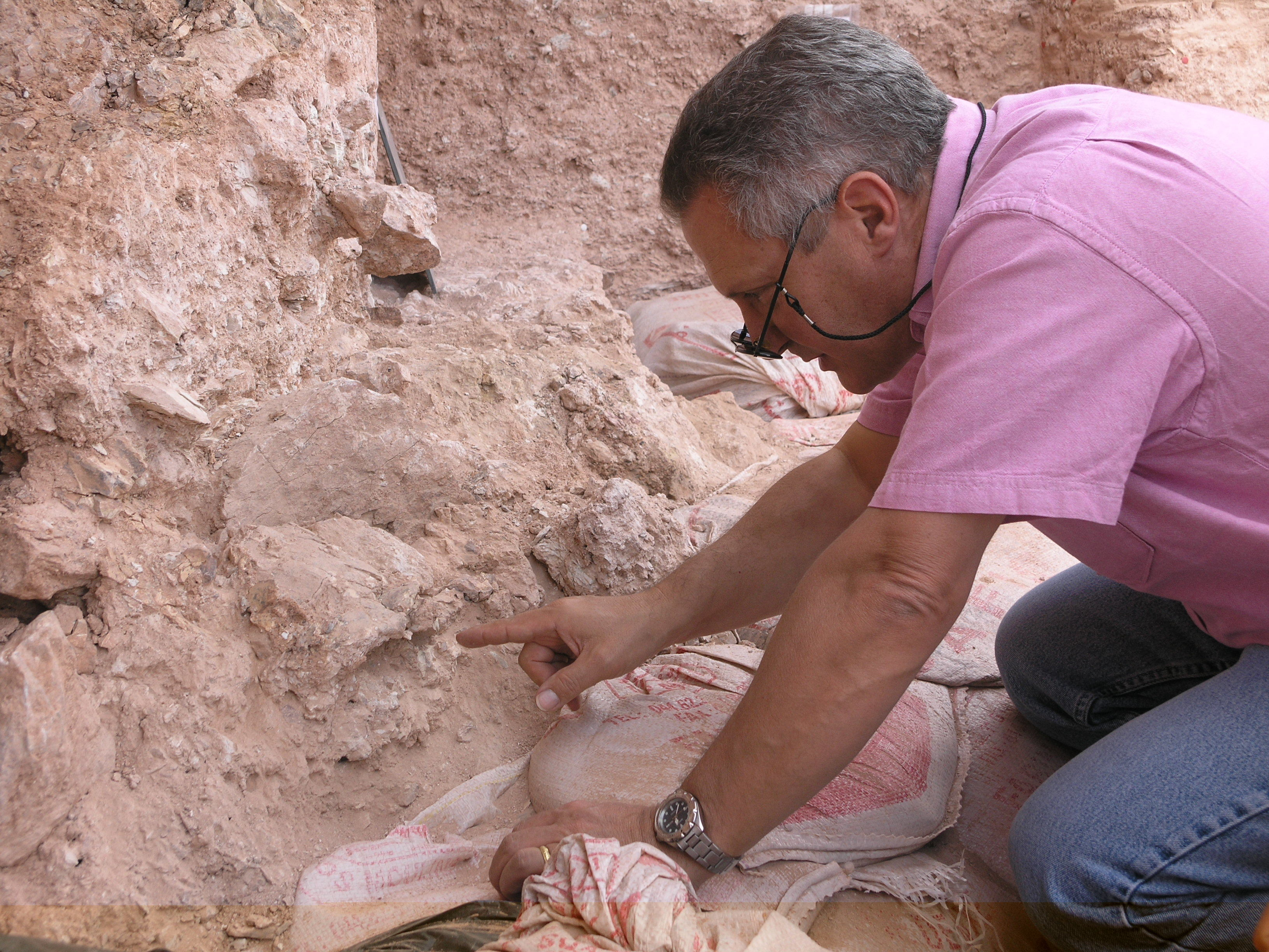 Dr. Jean-Jacques Hublin at Jebel Irhoud