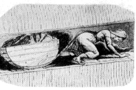 Illustration of a child pulling a coal tub