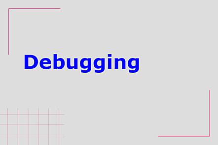 PFP01-Title card-Debugging