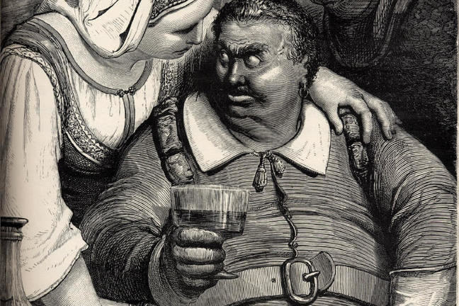 Gustave Doré's engraving for Hop-o'-my-thumb - Ogre and wife