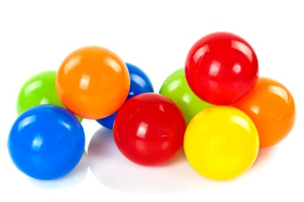 Group of colourful spheres
