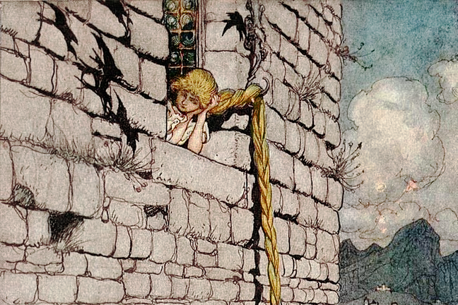 Rapunzel lets down her hair