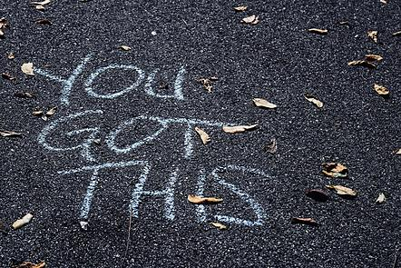 You got this written in chalk on a road