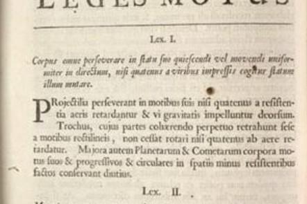 Page from Newton's Principia