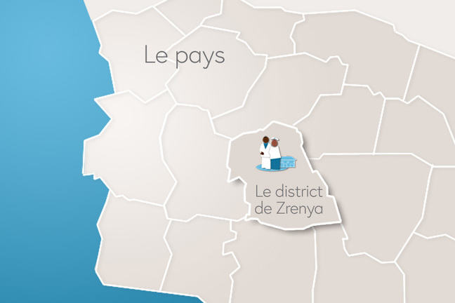 Le district de Zrenya