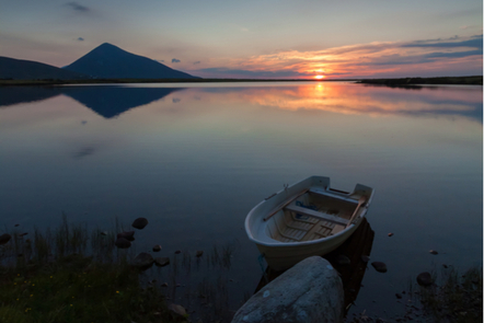 A sunset over Achill Island, Co. Galway.