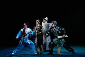 Cantonese opera performers onstage