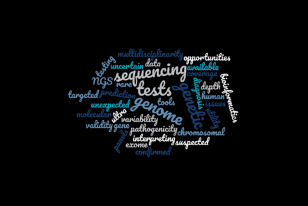 Wordcloud with the topics of the week written in different shades of blue, green and beige letters on a black background introducing the main issues of week 3.