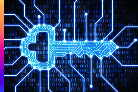 Key on digital background