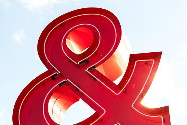 A large red ampersand