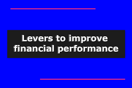 Levers to improve financial performance