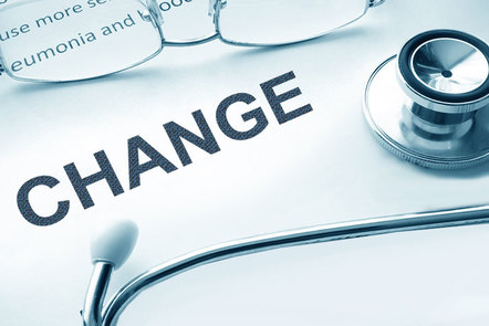Change infographic with stethoscope