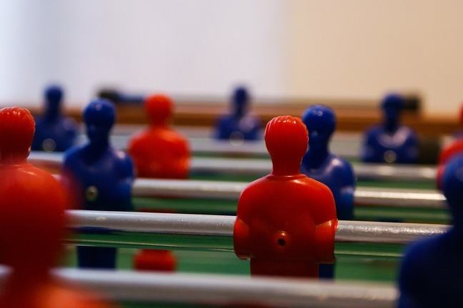 Table football photograph