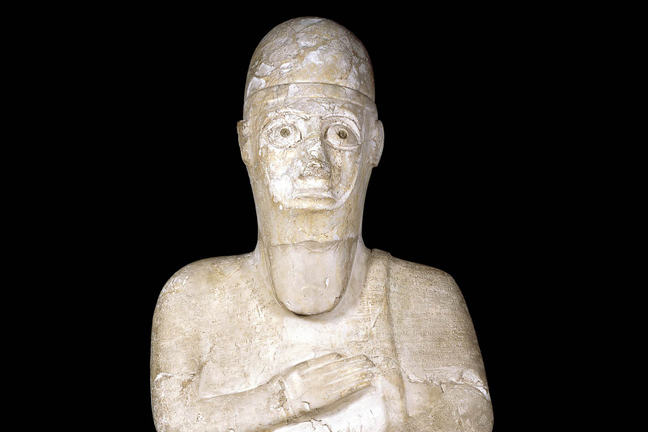 The inscribed statue of Idrimi of Alalakh, which is informative of early Mitannian power and influence in the Near East.