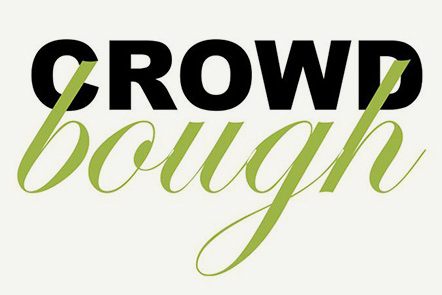 Two words: 'crowd – bough'