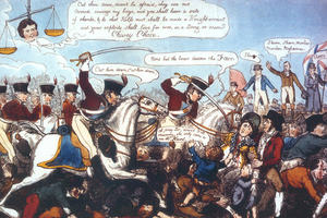 Illustration of the Peterloo Massacre by George Cruikshank