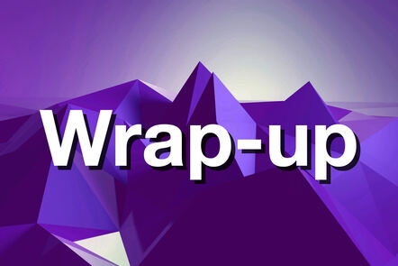 """Within purple mountain with """"Wrap-up"""" written on it."""