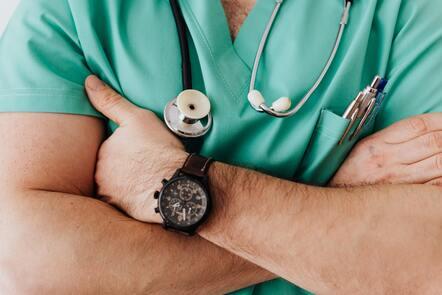 a man in scrubs