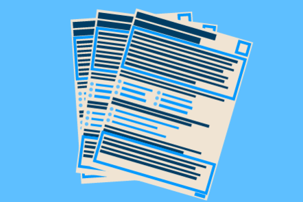 A stack of application forms