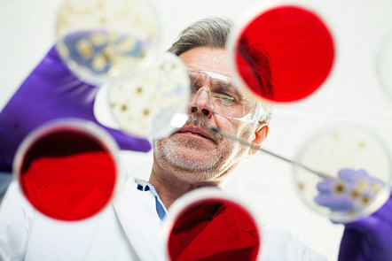 Male laboratory worker