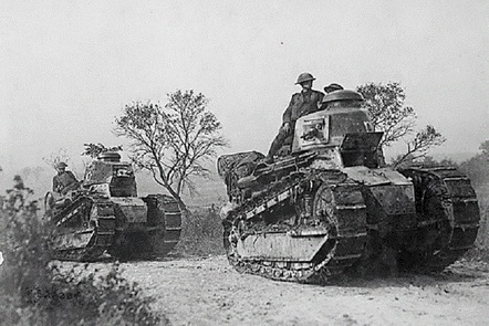 Picture of a tank during times of War