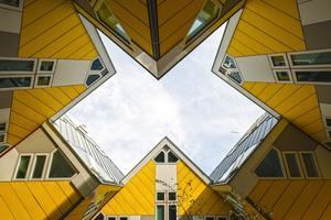 Low angle of yellow houses. Photo by Stas Knop from Pexels.