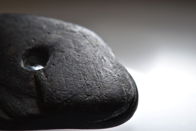 A magnified image of the larger bead found at Star Carr during the recent excavations