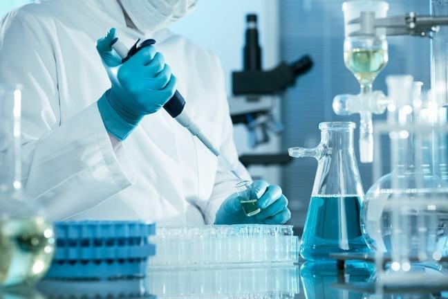 Person in a laboratory.