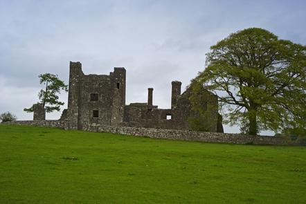 A ruin castle in Co. Meath