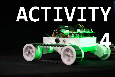 Track robot with 'Activity 4' written over the top.