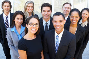 Decorative only - group of business people smiling