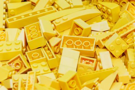 Yellow lego blocks