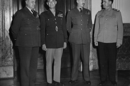 The four Allied commanders in Berlin.  That alliance was not to last very long last the end of the Second World War.