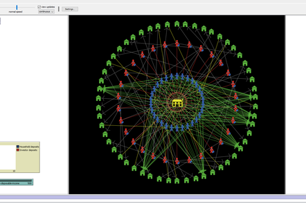 Screenshot of complex agent-based model