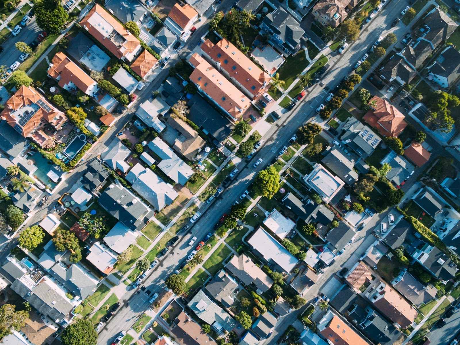 Aerial picture of an urban neighbourhood