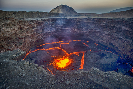 Photo of lava showing what's beneath the earth's surface