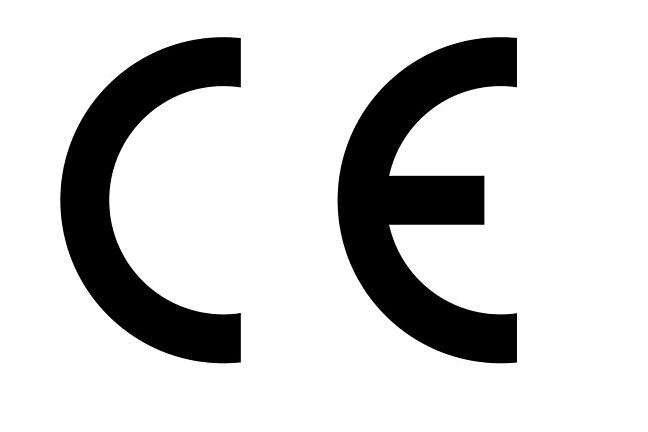 Letters CE as traded symbol for single market in European Economic Area - to signify the product is sold in the EEA and has been assessed to meet safety, health and environment protection requirements