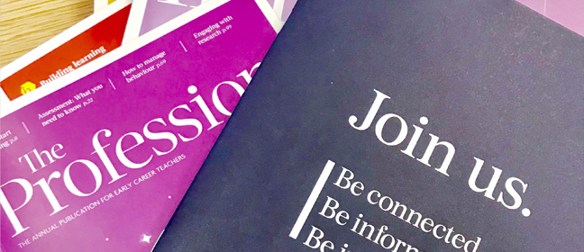 "Copies of the Chartered College of Teaching's journal, ""The Profession"""