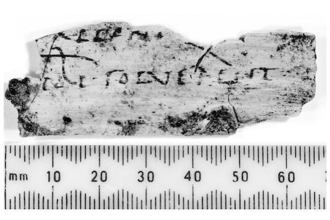 Photo of a Roman tablet found at Vindolanda.