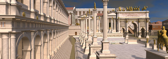 A 3D digital model of the ancient city of Rome