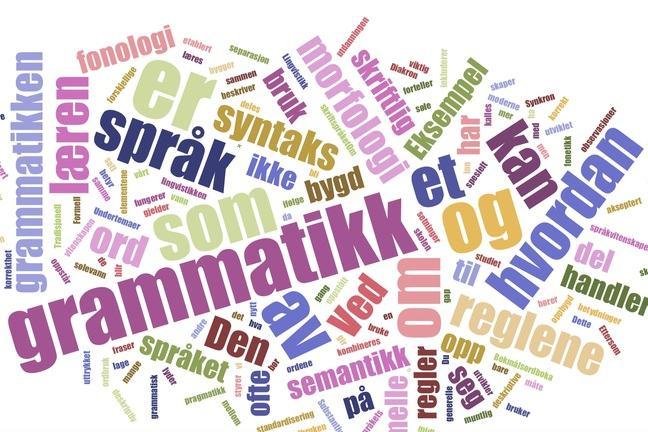 Wordcloud Grammar