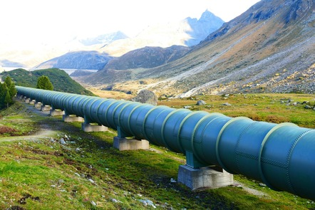 Pipeline in landscape