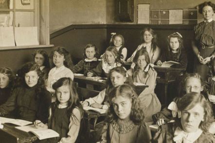 A Victorian school.