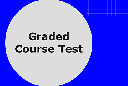 Graded course test image graphic