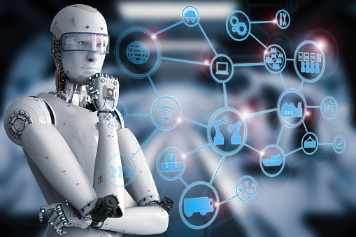 Robot with industrial network
