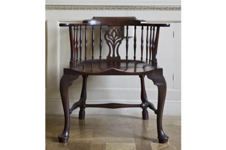 Mahogany armchair of 'Windsor' type