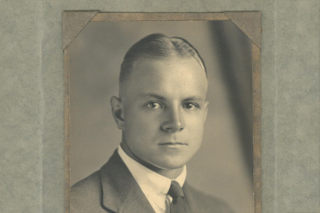 1920s photograph of young man in smart clothes